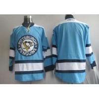 Penguins Blank Blue Stitched NHL Jersey
