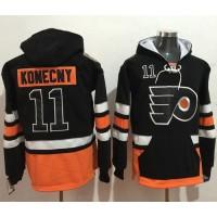 Philadelphia Flyers #11 Travis Konecny Black Name & Number Pullover NHL Hoodie