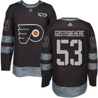 Philadelphia Flyers #53 Shayne Gostisbehere Black 1917-2017 100th Anniversary Stitched NHL Jersey