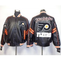 Philadelphia Flyers NHL Black Leather Jacket
