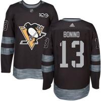 Pittsburgh Penguins #13 Nick Bonino Black 1917-2017 100th Anniversary Stitched NHL Jersey