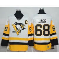 Pittsburgh Penguins #68 Jaromir Jagr White New Away Stitched NHL Jersey