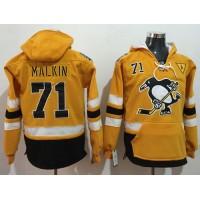 Pittsburgh Penguins #71 Evgeni Malkin Gold Sawyer Hooded Sweatshirt 2017 Stadium Series Stitched NHL Jersey