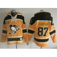 Pittsburgh Penguins #87 Sidney Crosby Gold Sawyer Hooded Sweatshirt Stitched NHL Jersey