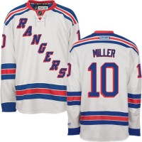 Rangers #10 J.T. Miller White Road Stitched NHL Jersey
