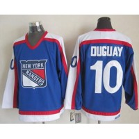 Rangers #10 Ron Duguay BlueWhite CCM Throwback Stitched NHL Jersey