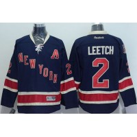 Rangers #2 Brian Leetch Dark Blue Third Stitched NHL Jersey