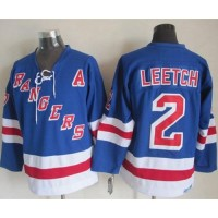 Rangers #2 Brian Leetch Light Blue CCM Throwback Stitched NHL Jersey