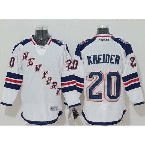 Rangers  20 Chris Kreider White 2014 Stadium Series Stitched NHL Jersey c1a972192