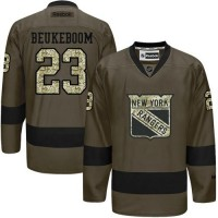 Rangers #23 Jeff Beukeboom Green Salute to Service Stitched NHL Jersey