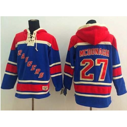 Rangers  27 Ryan McDonagh Blue Sawyer Hooded Sweatshirt Stitched NHL Jersey be7f8fcd1