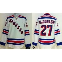 Rangers #27 Ryan McDonagh White Stitched Youth NHL Jersey