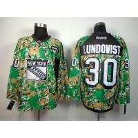 Rangers #30 Henrik Lundqvist Camo Veterans Day Practice Stitched NHL Jersey