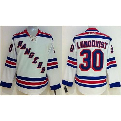 c2b5b802e Rangers  30 Henrik Lundqvist White Stitched Youth NHL Jersey