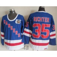 Rangers #35 Mike Richter Blue CCM 75TH Stitched NHL Jersey