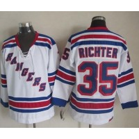 Rangers #35 Mike Richter White CCM Throwback Stitched NHL Jersey