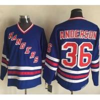 Rangers #36 Glenn Anderson Blue CCM Heroes of Hockey Alumni Stitched NHL Jersey