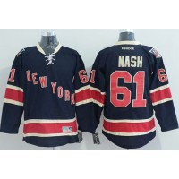 Rangers #61 Rick Nash Dark Blue Third Stitched NHL Jersey