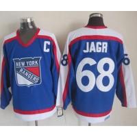 Rangers #68 Jaromir Jagr BlueWhite CCM Throwback Stitched NHL Jersey