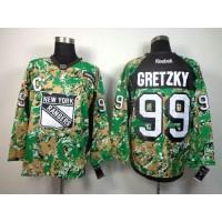 Rangers #99 Wayne Gretzky Camo Veterans Day Practice Stitched NHL Jersey