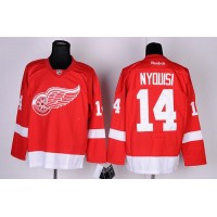 Red Wings #14 Gustav Nyquist Red Stitched NHL Jersey