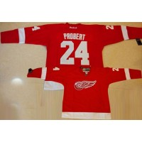Red Wings #24 Bob Probert Red Stitched NHL Jersey