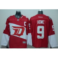 Red Wings #9 Gordie Howe Red 2016 Stadium Series Stitched NHL Jersey