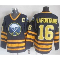 Sabres #16 Pat Lafontaine Navy Blue CCM Throwback Stitched NHL Jersey