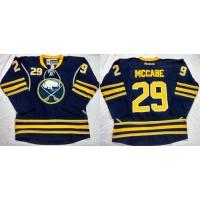 Sabres #29 Jake McCabe Navy Blue Home Stitched NHL Jersey