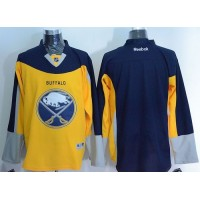 Sabres Blank YellowNavy Blue Alternate Stitched NHL Jersey