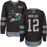 San Jose Sharks #12 Patrick Marleau Black 1917-2017 100th Anniversary Stitched NHL Jersey