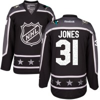 San Jose Sharks #31 Martin Jones Black 2017 All-Star Pacific Division Stitched NHL Jersey