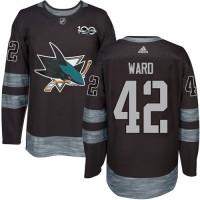 San Jose Sharks #42 Joel Ward Black 1917-2017 100th Anniversary Stitched NHL Jersey