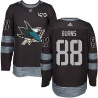 San Jose Sharks #88 Brent Burns Black 1917-2017 100th Anniversary Stitched NHL Jersey