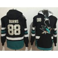 San Jose Sharks #88 Brent Burns Black Name & Number Pullover NHL Hoodie