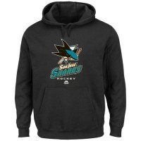 San Jose Sharks Majestic Critical Victory VIII Pullover Hoodie Black