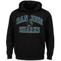 San Jose Sharks Majestic Heart & Soul Hoodie Black