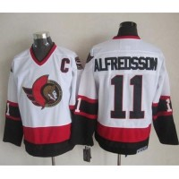 Senators #11 Daniel Alfredsson White CCM Throwback Stitched NHL Jersey