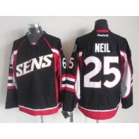 Senators #25 Chris Neil Black Throwback Stitched NHL Jersey