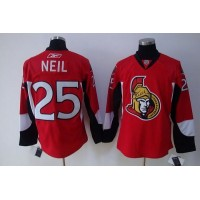 Senators #25 Chris Neil Stitched Red NHL Jersey