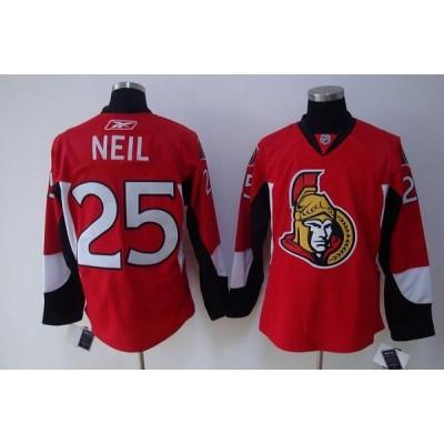 Senators #25 Chris Neil Stitched Red NHL Jersey