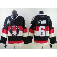 Senators #6 Bobby Ryan Black 2014 Heritage Classic Third Stitched NHL Jersey