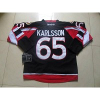 Senators #65 Erik Karlsson Black New Third Stitched NHL Jersey