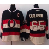 Senators #65 Erik Karlsson Black Third Stitched NHL Jersey