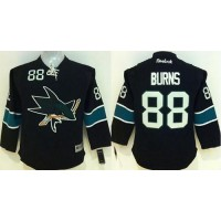 Sharks #88 Brent Burns Black Stitched Youth NHL Jersey