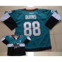 Sharks #88 Brent Burns TealBlack 2015 Stadium Series Stitched NHL Jersey