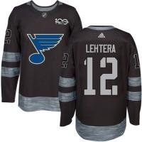 St. Louis Blues #12 Jori Lehtera Black 1917-2017 100th Anniversary Stitched NHL Jersey