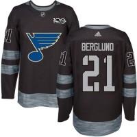 St. Louis Blues #21 Patrik Berglund Black 1917-2017 100th Anniversary Stitched NHL Jersey