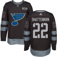 St. Louis Blues #22 Kevin Shattenkirk Black 1917-2017 100th Anniversary Stitched NHL Jersey