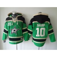 Stars #10 Patrick Sharp Green Sawyer Hooded Sweatshirt Stitched NHL Jersey